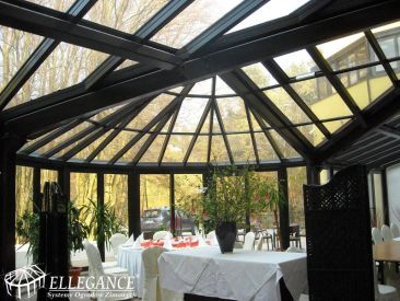 Zadaszenie tarasu Hotel Grand w Rozewie - restauracja